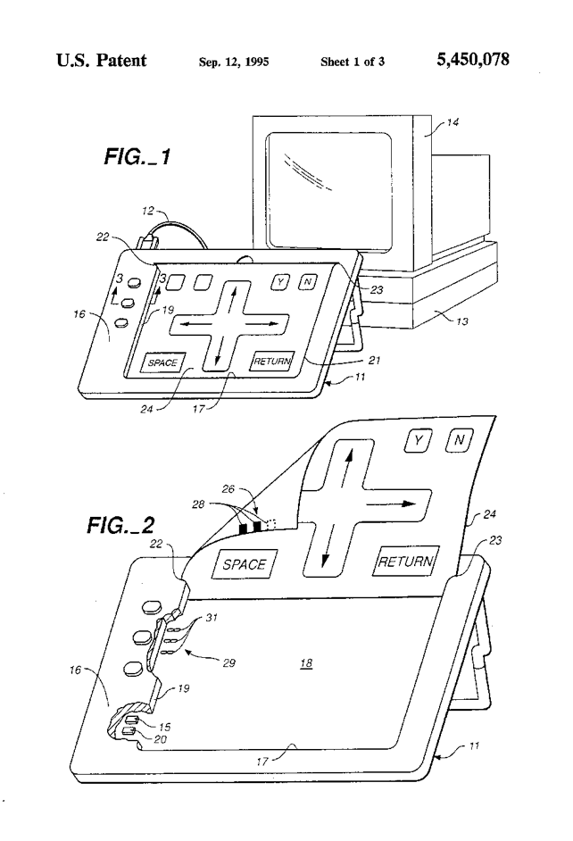 US Patent 5450078 Figure